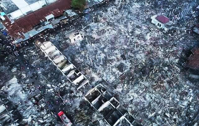 pasar renteng terbakar