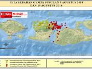 persebaran gempa lombok